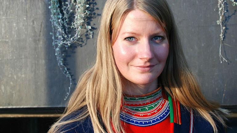 Josefina Lundgren Skerk, ledamot i Sametingets styrelse för Jakt- och Fiskesamerna. Foto: Olle Kejonen / SR Sameradion