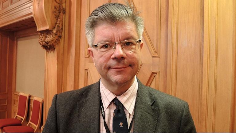 Hans Wallmark, moderat riksdagsledamot och vicepresident i Nordiska rådet. Foto: Olle Kejonen / SR Sameradion