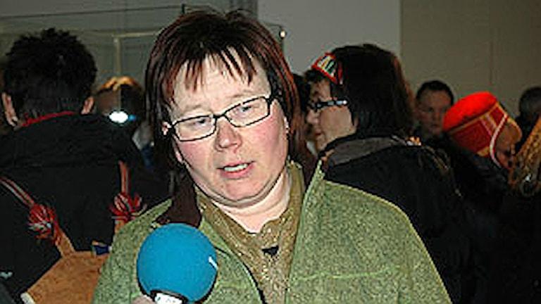 Britt-Inger Tuorda. Foto: Sveriges Radio Sameradion
