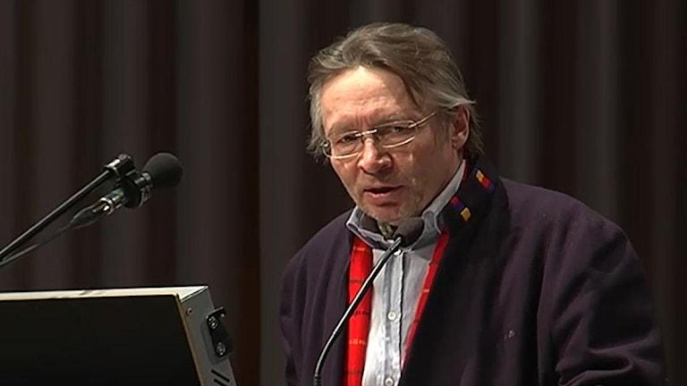 Lars Anders Baer, ledamot i den svenska förhandlingsdelegationen gällande Samekonventionen. Foto: Nils-Josef Labba/SVT Sápmi