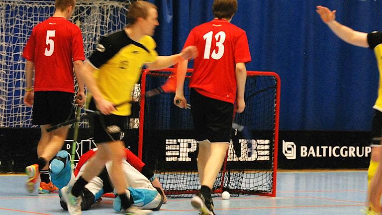 Soppero gör mål i finalen. Foto: David Rydenfalk.