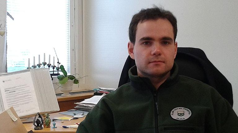 Evgeny Krakov, miljö- och hälsoskyddsinspektör, Pajala kommun. Foto: Bertil Isaksson.