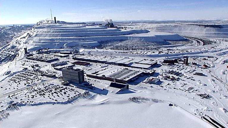 LKAB:s gruva i Kiruna. Foto: SVT