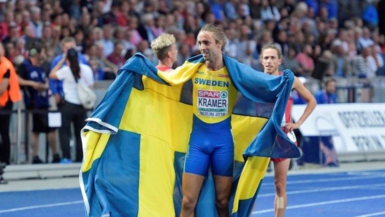 Andreas Kramer tog silver på 800 meter vid friidrotts-EM i Berlin.
