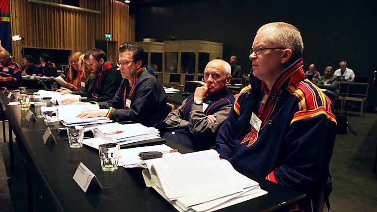 Arkivbild: Sametingets plenum i Åre, maj 2014. Foto: Marie-Louise Niia/ SVT Sápmi och Sameradion