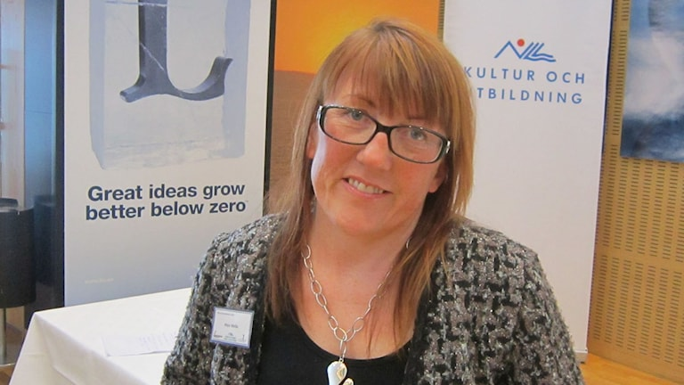 Maja Mella, verksamhetsledare för svenska tornedalingars riksförbund. Foto: Turi Wennberg/ Sveriges Radio