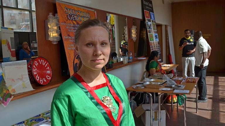 Anna Kråik, språkambassadör på Östersunds kommun. Foto: Thomas Sarri/Sameradion & SVT Sápmi