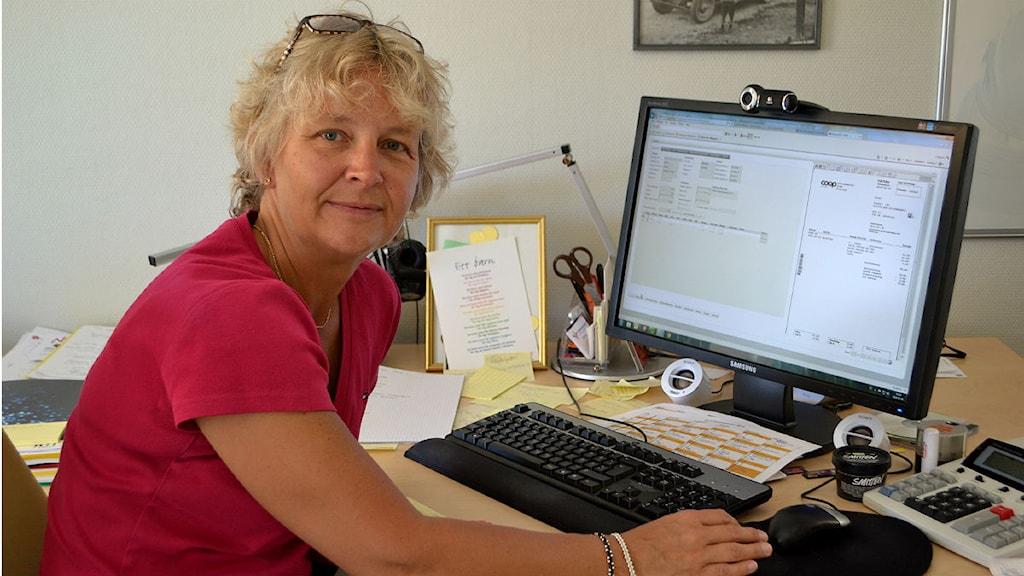 Britta Flinkfeldt Jansson, kommunalråd, Arjeplogs kommun. Foto: Marica Blind/Sameradion & SVT Sápmi