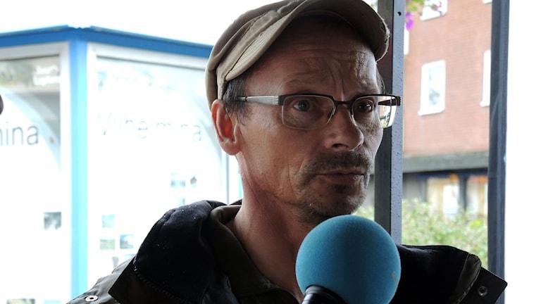 Vilhelmina södra samebys ordförande Tomas Nejne deltog i valdebatten. Foto: Sameradion