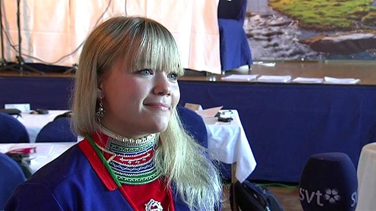 Johanna Njajta. Foto: Olle Liman/ Sameradion & SVT Sápmi