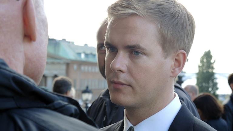 Utbildningsminister Gustav Fridolin (MP). Foto: SR Sameradion