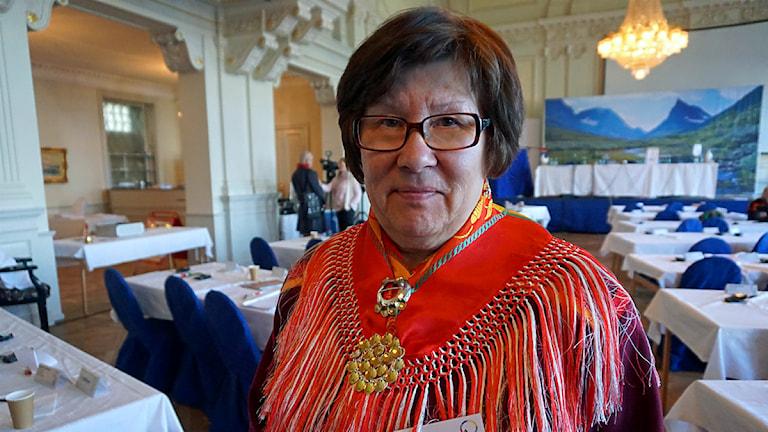 Ingrid Inga, Samelandspartiet. Foto: Lars-Ola Marakatt/ Sveriges Radio Sameradion