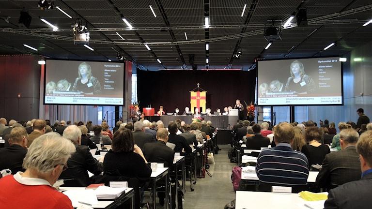 Kyrkomötets plenum i Uppsala, november 2014. Foto: SR Sameradion