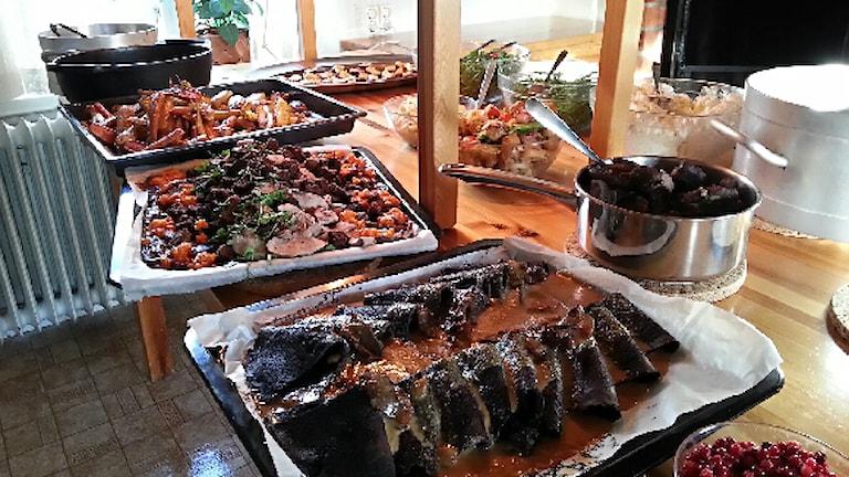 Samisk mat. Foto: Sveriges Radio Sameradion