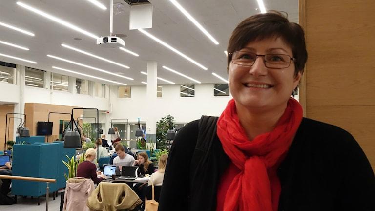 Statsvetaren Camilla Sandström. Foto: David Rydenfalk, Sameradion.