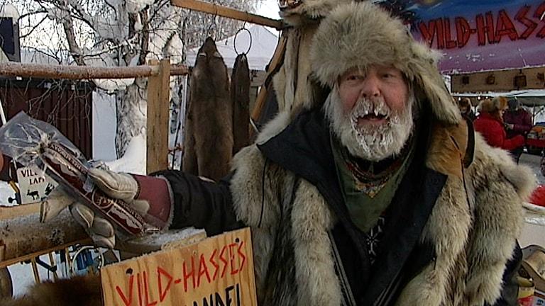 Vild-Hasse, Jokkmokks marknad. Foto: Stig Holmfrid/ SVT Nordnytt