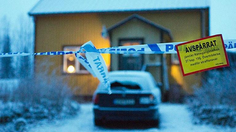 Misstänkt mord i Rönnäs utanför Vilhelmina i Västerbotten. Foto: SVT