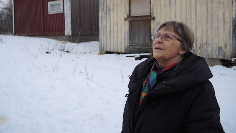 Sagka Stångberg vid kyrkstaden i Tärnaby. Foto: SR Sameradion