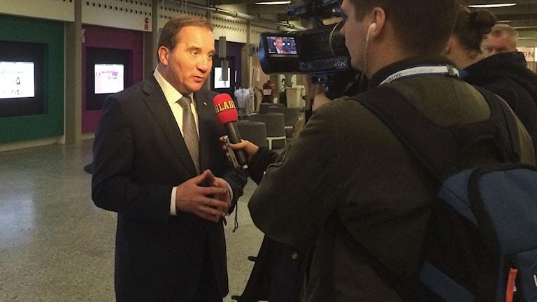 Statsminister Stefan Löfven (S). Foto: SR Sameradion