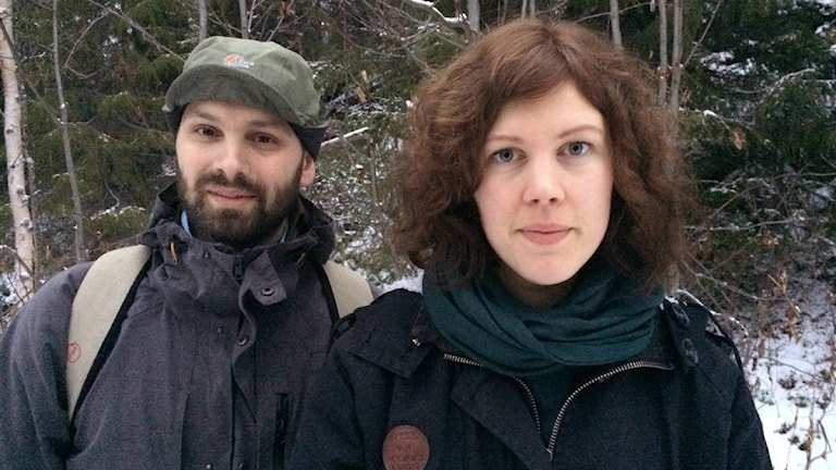 Amanda Kernell och Oskar Östergren. Foto: Pia Sjögren/ Sameradion & SVT Sápmi
