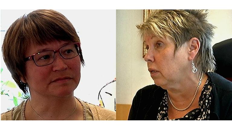 Marie-louise Allas och Anja Taube. Foto:SVT