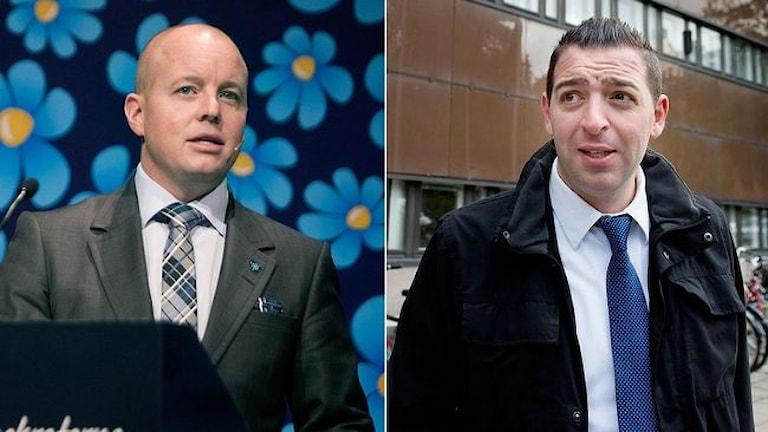 Björn Söder (SD) och Roger Haddad (FP). Foto:TT