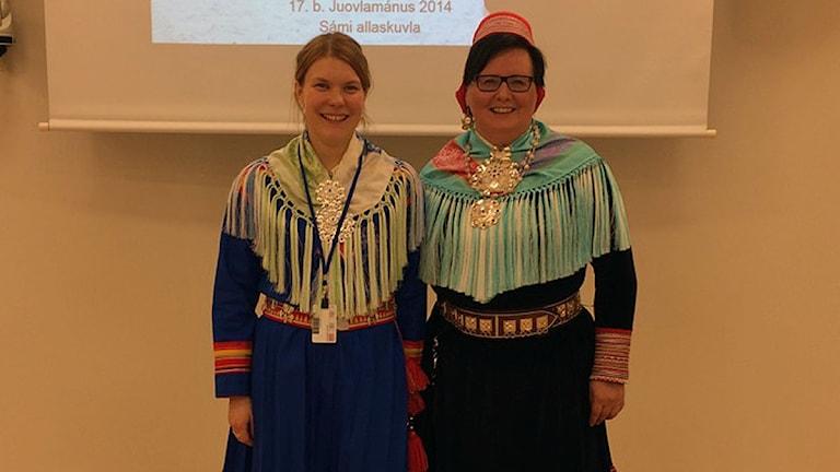 Helena Omma och Inger Marie Gaup Eira. Foto: Privat
