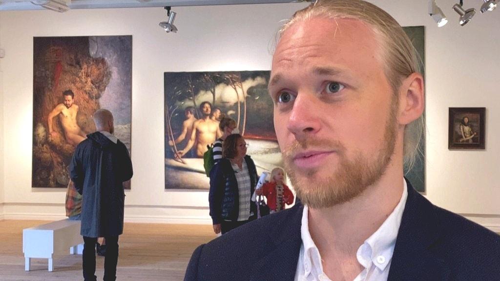 I helgen öppnade konstnären Per Elof Nilsson Ricklund sin utställning, Mov Gïele – Mitt Språk i Orrestaare (Örnsköldsvik).