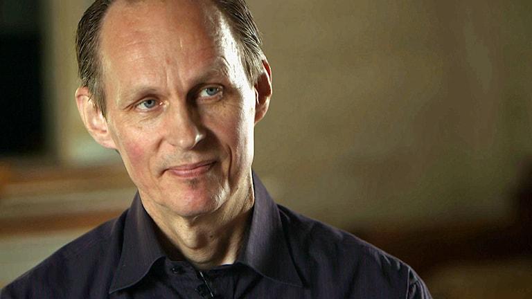 Författaren Mikael Niemi i Berättarna. Foto: SVT