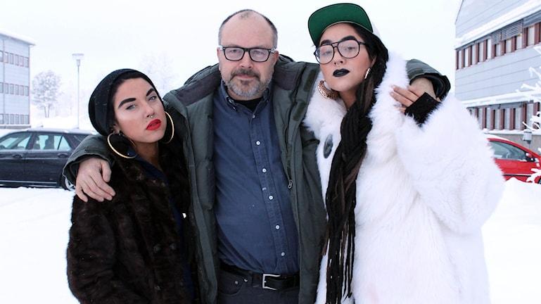Maxida Märak, Mike Agaton, Mimi Märak Foto: Alexander Linder