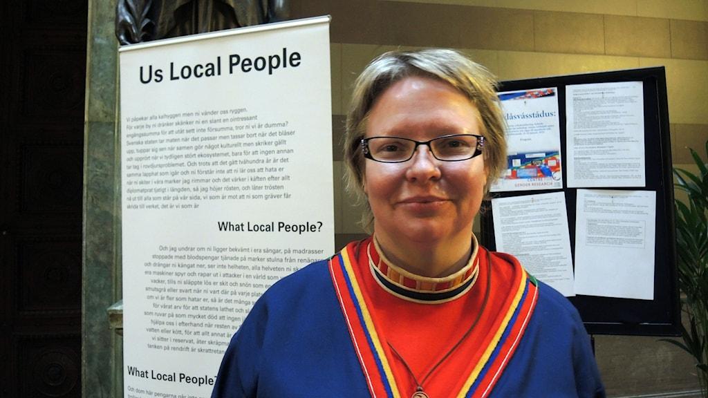 May-Britt Öhman vid Uppsala Universitet. Foto: SR Sameradion