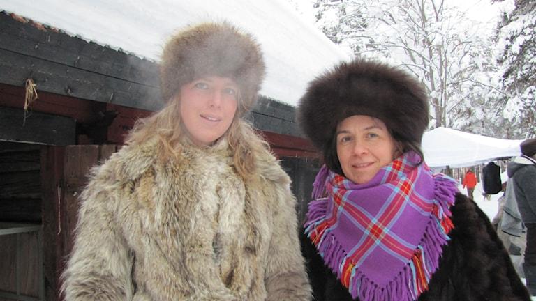 Mirja Palo & Nina Nordvall Vahlberg Foto: Lisa Utsi / Sameradion