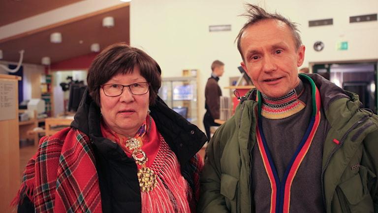 Ingrid Inga och Håkan Jonsson. Foto: Sameradion & SVT Sápmi