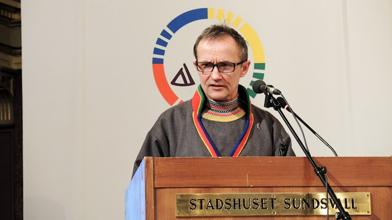 Håkan Jonsson (JoF) vid Sametingets plenum i Sundsvall 2015. Foto: Sameradion & SVT Sápmi