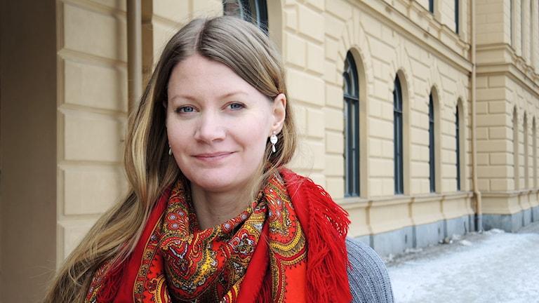 Jakt- och Fiskesamernas Josefina Lundgren Skerk. Foto: Sameradion & SVT Sápmi