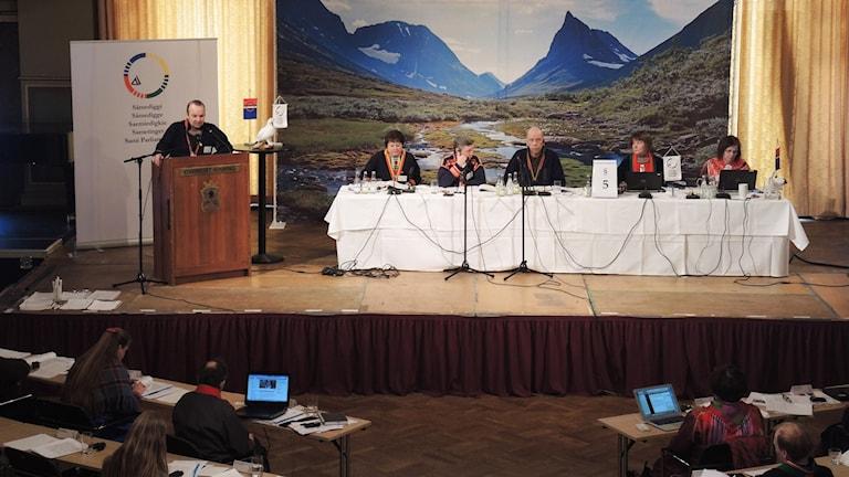 Sametingets plenum i Sundsvall 2015. Foto: SR Sameradion
