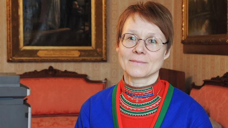 Marita Stinnerbom, Guovssonásti. Foto: SR Sameradion