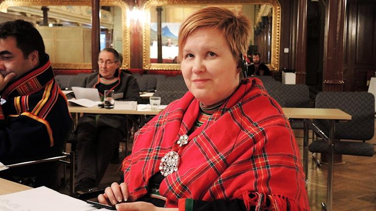 Christina Åhrén, Min Geaidnu. Foto: SR Sameradion
