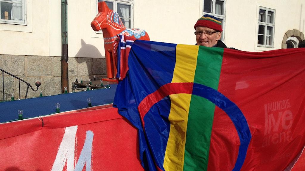 Petter Henriksen i Falun under VM Foto: Privat