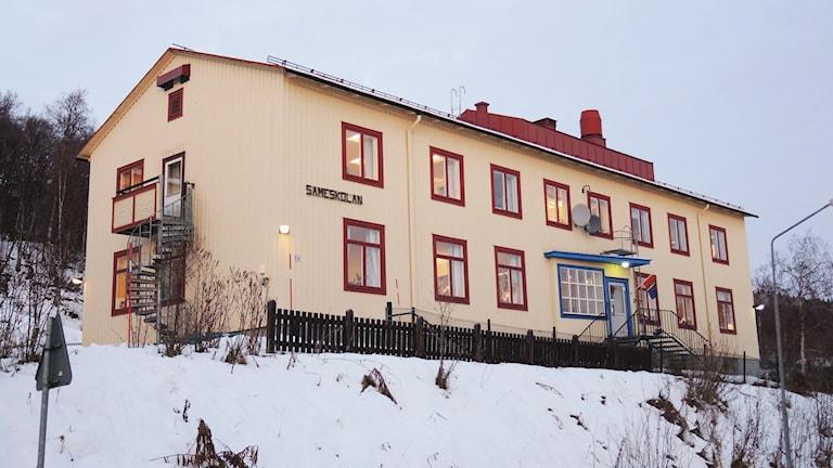 Sameskolan i Tärnaby. Foto: Sameradion & SVT Sápmi