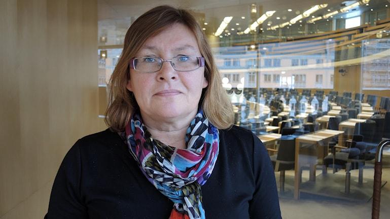 Gunilla Svantorp (S) sitter i riksdagens utbildningsutskott. Foto: SR Sameradion