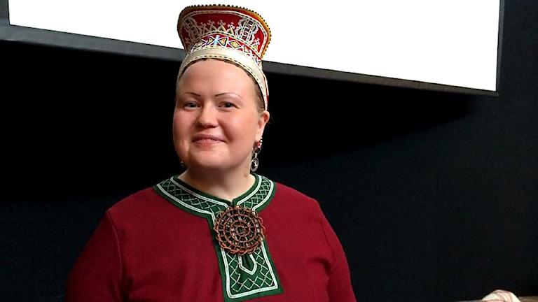 Sametingspresidenten i Finland, Tiina Sanila-Aikio. Foto: Pirita Näkkäläjärvi / Yle Sámi Radio