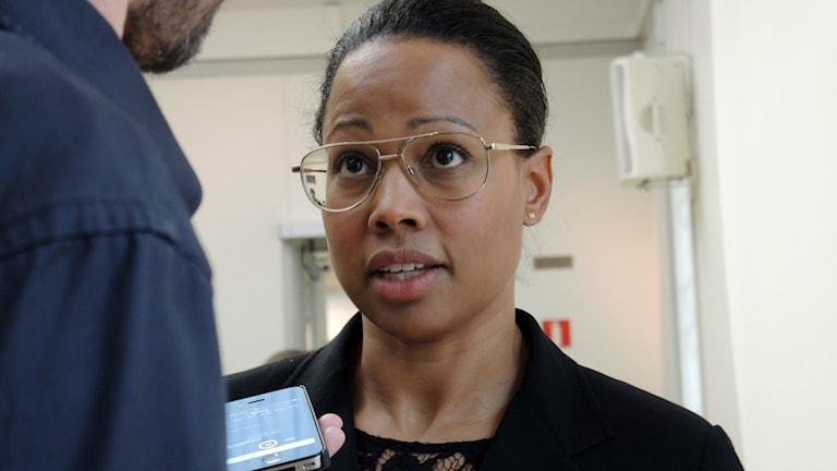 Kultur- och demokratiminister Alice Bah Kuhnke (MP). Foto: Sameradion & SVT Sápmi