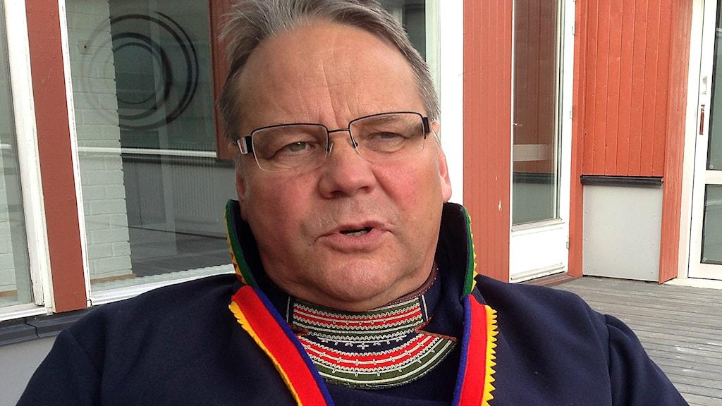 Jörgen Jonsson, ordförande i SSR. Foto: Jörgen Heikki/ Sameradion & SVT Sápmi.