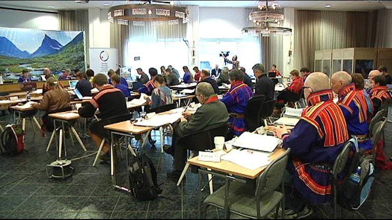 Sametingets plenum i Arvidsjaur maj 2015. Foto: Marit Kuhmunen Blom/ Sameradion & SVT Sápmi