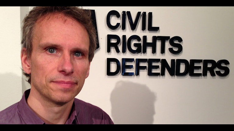 John Stauffer, chefsjurist vid Civil rights defenders. Foto: Jörgen Heikki/ Sameradion & SVT Sápmi.
