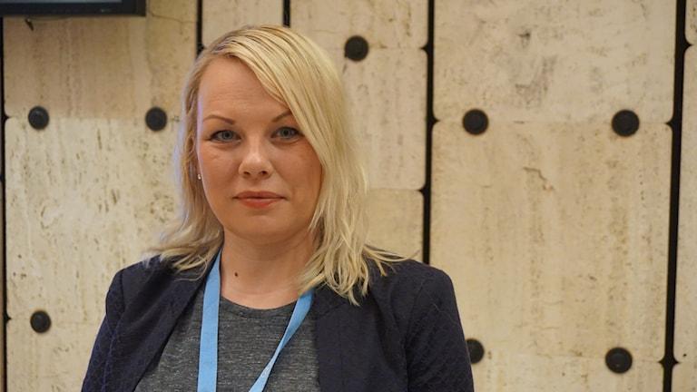 Laila Susanne Vars, direktör för Gáldu, det norska resuscentret för urfolkrättigheter. Foto. Anna Sunna/Sameradion