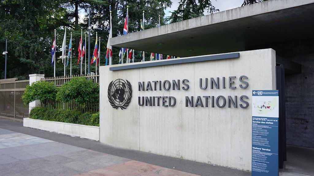 Förenta Nationerna i Genève. Foto: Anna Sunna/Sveriges Radio Sameradion
