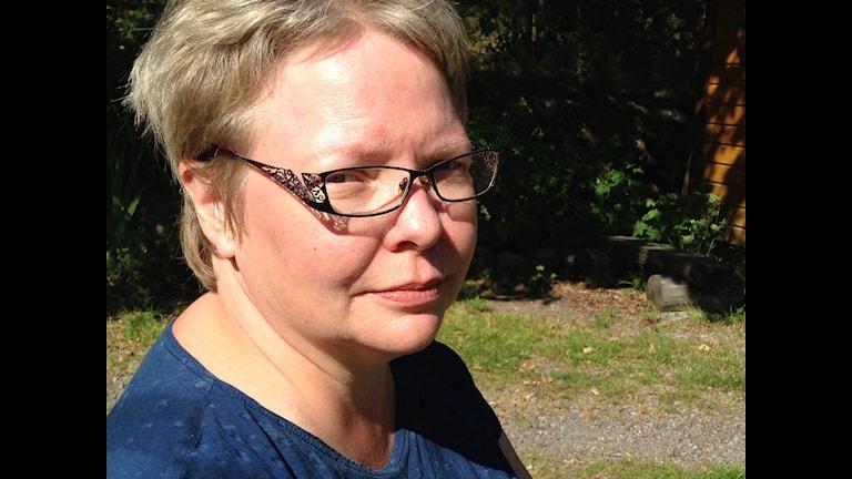 May-Britt Öhman, forskare vid Uppsala universitet. Foto: Jörgen Heikki, SR Sameradion & SVT Sápmi.