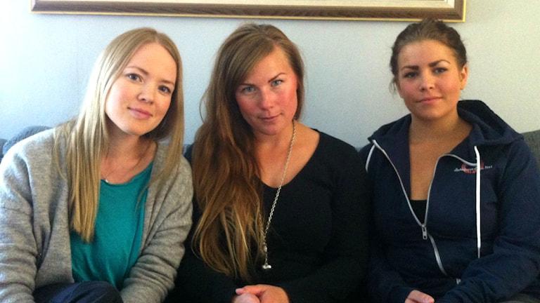 Brita Iren Thomasson, Anna Kuhmunen Kärrstedt och Emelie Marnemo. Foto: Privat